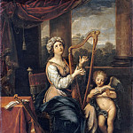 Saint Cecilia singing the praises of the Lord, Pierre Mignard