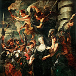 Peter Paul Rubens -- Medici Cycle: Queen Escapes from the Castle of Blois During the Night, February 22, 1619, Part 3 Louvre