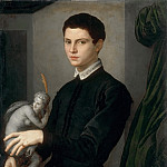 Agnolo Bronzino -- Portrait of a Sculptor , Part 3 Louvre