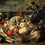 Part 3 Louvre - Still Life of Fruits and Vegetables (oil on panel)Title: -- Snyders or Snijders, Frans (1579-1657)Primary creator:
