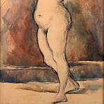 Paul Cézanne -- Standing Female Nude, Arms Raised, Part 3 Louvre