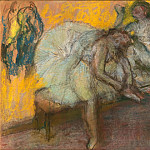 Edgar Degas -- Two dancers in repose, Part 3 Louvre