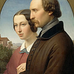 Franz Ittenbach -- Portrait of Ernst Deger and His Wife Augusta, Part 3 Louvre