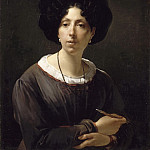 Antoine Cécile Hortense Haudebourt-Lescot, Self-Portrait, 1825 -- Oil on canvas, Part 3 Louvre