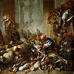 Giovanni Benedetto Castiglione -- Jesus Driving the Moneychangers from the Temple, Part 3 Louvre