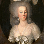 Anonymous French painter -- Portrait of Marie Antoinette, Part 3 Louvre