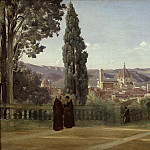 Jean-Baptiste-Camille Corot -- Florence. View from the Boboli Gardens., Part 3 Louvre