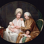 Nicolas Bernard Lépicié -- Portrait of Marc-Etienne Quatremère and his family, Part 3 Louvre