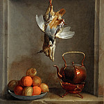 Jean-Baptiste Oudry -- Still life with fruit and game, Part 3 Louvre