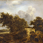 Jacob van Ruisdael -- Road in the Dunes of Haarlem, or The Shrub, Part 3 Louvre