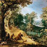 Paul Bril -- Stag Hunt, Part 3 Louvre