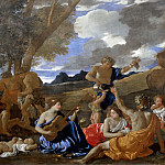Nicolas Poussin -- Bacchanal with the Guitar Player , Part 3 Louvre