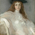 Paul César Helleu -- Portrait of a Young Girl in a Black Hat, Part 3 Louvre