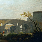 Claude-Joseph Vernet -- The Ponte Rotto in Rome, Part 3 Louvre