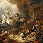 Govaert Flinck -- Annunciation to the Shepherds, Part 3 Louvre