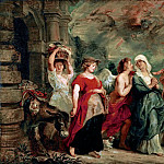 Peter Paul Rubens -- Lot and His Family Leaving Sodom, Part 3 Louvre