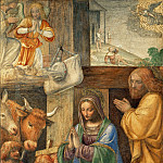Part 3 Louvre - Bernardino Luini -- Nativity and Adoration of the Shepherds