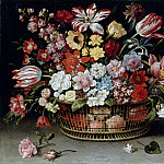 Jacques Linard -- Basket of flowers, Part 3 Louvre