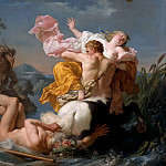 Louis Jean François Lagrenée -- Abduction of Dejanire by the Centaur Nessus, Part 3 Louvre