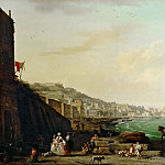 Claude-Joseph Vernet -- View of Naples with Mount Vesuvius, Part 3 Louvre