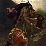 Anne-Louis Girodet de Roucy-Trioson -- Scene from the Deluge, Part 3 Louvre