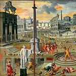 Part 3 Louvre - Antoine Caron (1521-1599) -- Massacre of the Triumvirate
