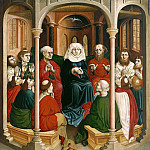 Hans Multscher – Wurzach Altarpiece – The descent of the Holy Spirit at Pentecost, Part 2