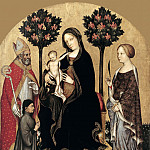 Gentile da Fabriano – Enthroned Madonna with Child and Saints, Part 2