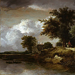 Forested river bank, Jacob Van Ruisdael
