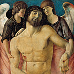 Giovanni Bellini – The dead Christ, two mourning angels supported, Part 2