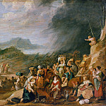Hans Jordaens – The train of the Israelites through the Red Sea, Part 2