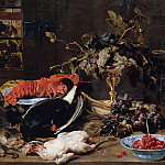 Still life with lobster and fruit, Frans Snyders