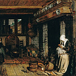 Part 2 - Esaias Boursse (1631-1672) - Dutch interior with sewing woman