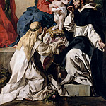 Francesco Solimena – Enthroned Madonna with the Christ Child, St. Dominic and St. Catherine of Siena, Part 2