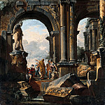 Part 2 - Giovanni Paolo Pannini (1691-1765) - Fantasy landscape with Roman ruins