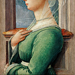 Profile portrait of young woman, Fra Filippo Lippi