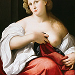 Part 2 - Jacopo Palma (c.1480-1528) - Portrait of a young woman with breast uncovered