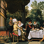 Esaias van de Velde – Merry Company on a Terrace, Part 2