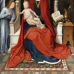 Enthroned Madonna with Child, Hans Memling