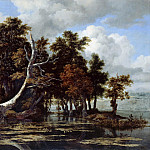 Oaks on the lake with water lilies, Jacob Van Ruisdael