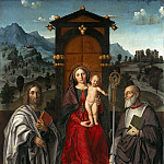 Girolamo dai Libri – Enthroned Madonna and Child with St. Bartholomew and Zeno, Part 2