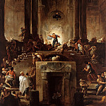 Hubert Robert – Christ driving the moneychangers out of the temple, Part 2