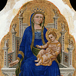 Guariento – Madonna Enthroned with the blessing child and a donor, Part 2