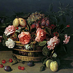 Jacob van Hulsdonck – Basket with flowers and fruits, Part 2