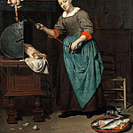 Gabriel Metsu – The cook, Part 2