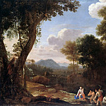 Herman van Swanevelt – Italian landscape with Masked Latona, Part 2