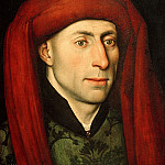 Part 2 - Jacques Daret (attr.) - Portrait of a man with red chaperone