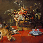Still Life with hunting prey, fruit basket and vegetables, Frans Snyders