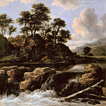 The waterfall, Jacob Van Ruisdael