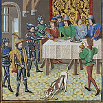 A197L The King of France, John the Good, orders the arrest of Charles the Evil, King of Navarre, John Nava
